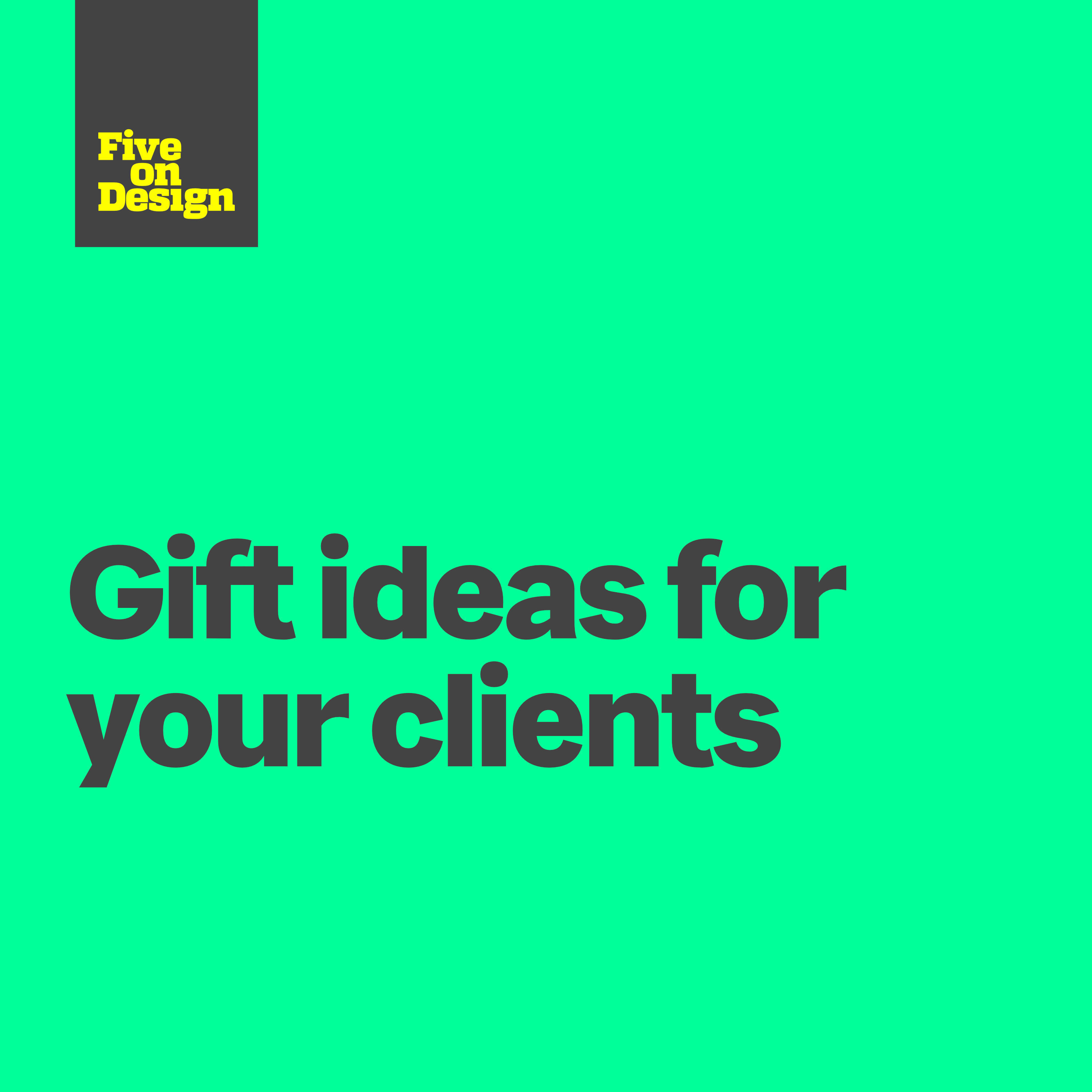 Gift ideas for your clients